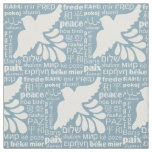 PEACE in many languages custom colour fabric