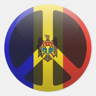 Peace in Moldova Classic Round Sticker