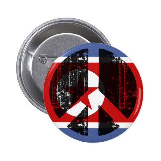 Peace In North Korea 2 Inch Round Button