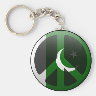 Peace in Pakistan Basic Round Button Keychain