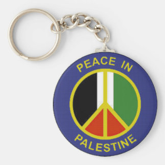 Peace in Palestine Keychain