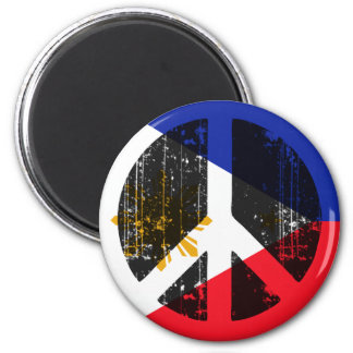 Peace In Philippines 2 Inch Round Magnet