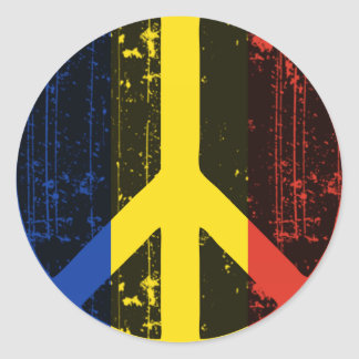 Peace In Romania Round Sticker
