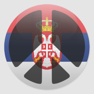Peace in Serbia Classic Round Sticker
