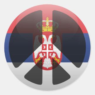 Peace in Serbia Round Sticker