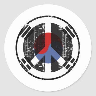 Peace In South Korea Classic Round Sticker