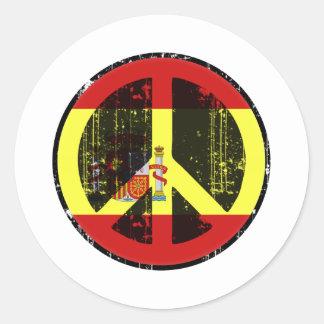 Peace In Spain Classic Round Sticker