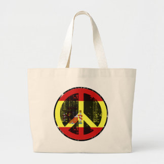 Peace In Spain Large Tote Bag