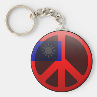 Peace in Taiwan Keychain