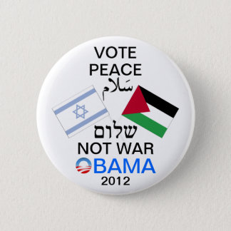 Peace in the Middle East Obama button