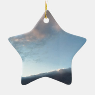 Peace in the midst of a storm ceramic ornament