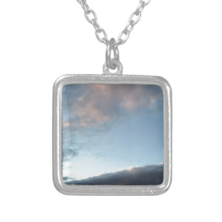 Peace in the midst of a storm silver plated necklace