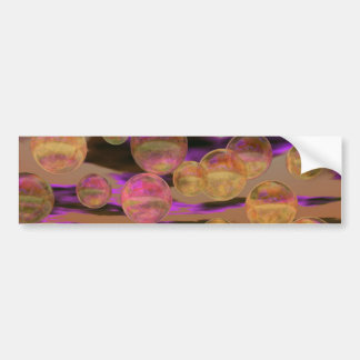 Peace in the Storm – Violet and Amber Tranquility Bumper Sticker