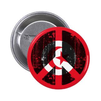 Peace In Tunisia 2 Inch Round Button
