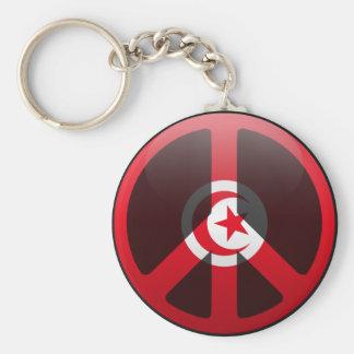 Peace in Tunisia Keychain