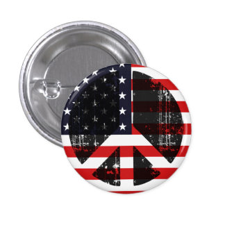Peace In Usa 1 Inch Round Button