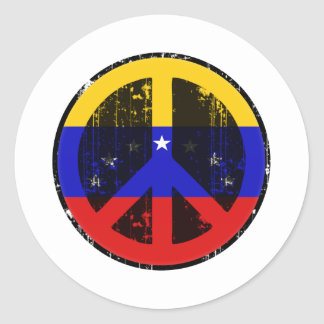 Peace In Venezuela Classic Round Sticker