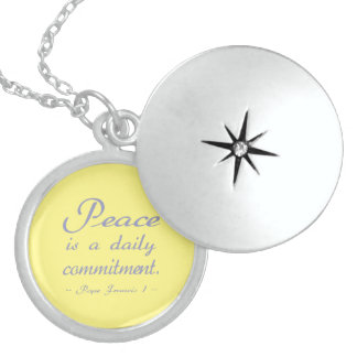 Peace is a Daily Commitment Locket Necklace