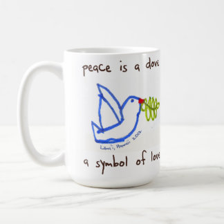 Peace is a Dove Basic White Mug