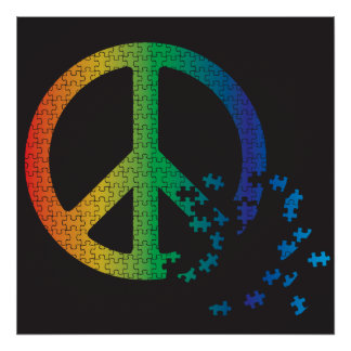 Peace is a Puzzle Poster