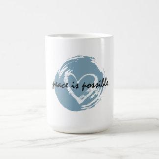 Peace is Possible Basic White Mug