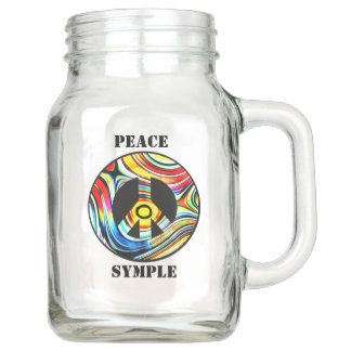 PEACE IS SYMPLE MASON JAR