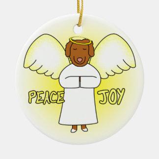 Peace Joy Angel Toller Christmas Ornament