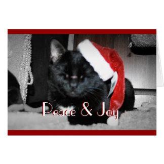 Peace & Joy Cat Greeting Card
