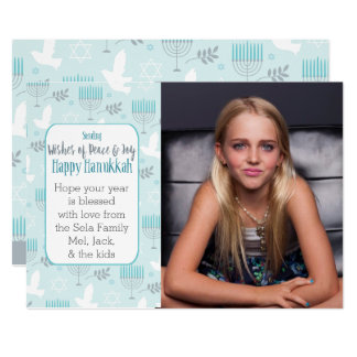 Peace & Joy Hanukkah Custome Card