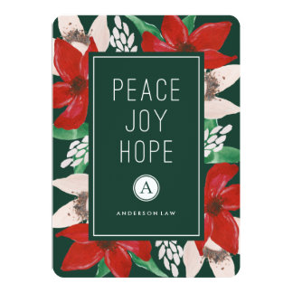 Peace Joy Hope Corporate Holiday Card