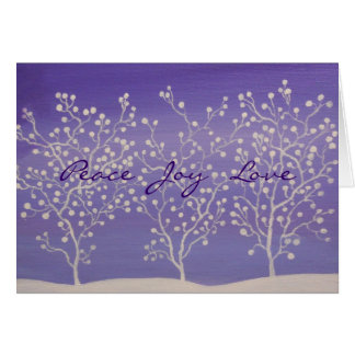 PEACE, JOY, LOVE, CHRISTMAS CARD ART DECO DESIGN