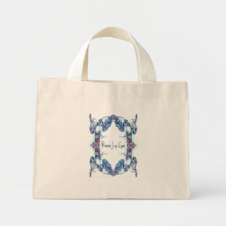 Peace Joy Love Dove Mandala Patterned Mini Tote Bag