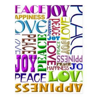 Peace Joy Love Happiness Postcard