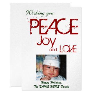PEACE JOY LOVE Holiday Photo Card