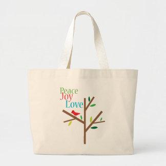 Peace Joy Love Holiday Tote