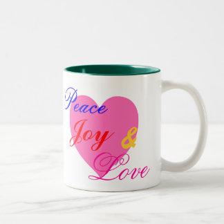 Peace, Joy & Love Mug
