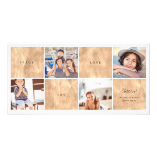 Peace Joy Love New Year Photo Collage Holiday Card Photo Card Template