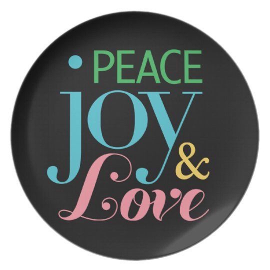 Peace, Joy, & Love Plate