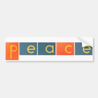 PEACE JOY LOVE Sandpaper Letters Bumper Sticker