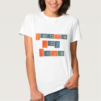 PEACE JOY LOVE Sandpaper Letters Shirts