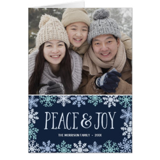 Peace & Joy | Modern Folded Holiday Photo Card