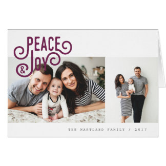 PEACE + JOY(PLUM) CARD