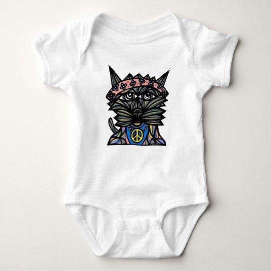 """Peace Kat"" Baby Jersey Bodysuit"