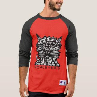 """""""Peace Kat"""" BuddaKats Men's Raglan Shirt"""