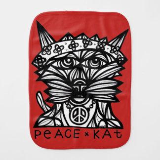 """""""Peace Kat"""" Burp Cloth"""