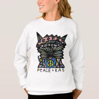 """Peace Kat"" Girls' Sweatshirt"