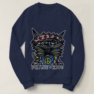"""Peace Kat"" Women's American Apparel Sweatshirt"