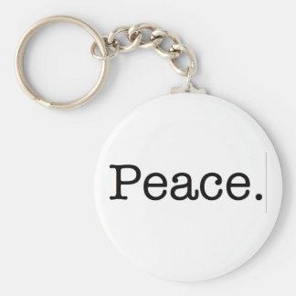 Peace. Keychain