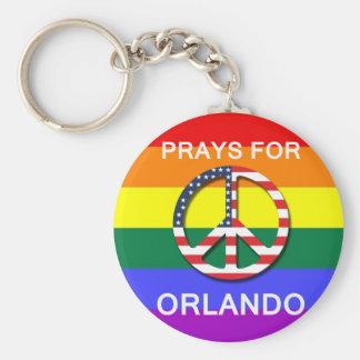 """Peace Keychain 5.7 cm - «Prays Sera Orlando """" Porte-clé Rond"""