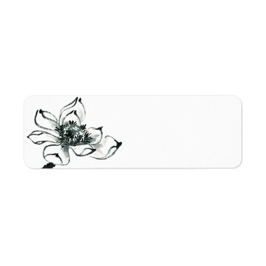 Peace l Beautiful Watercolor Lotus Blank Labels